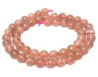 😏 Erdbeerquarz (natürlicher!) Perlen Kugeln 8mm Edelsteinperlen Quarz Strang 😉