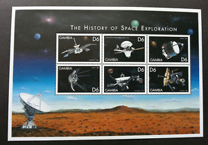 [SJ] Gambia The History Of Space Exploration 1999 Astronomy (sheetlet) MNH