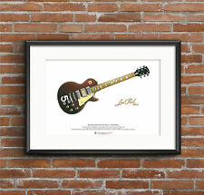 Pete Townshend's #5 Wine Red Gibson Les Paul Deluxe ART POSTER A3 size