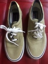EUC Sperry Top Sider Marine Mens Size  US 10 M Olive canvas sneakers