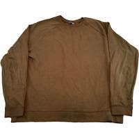 ASOS Mens Knitted Jumper 3XL Brown Raglan Sleeve Pullover