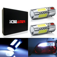 x2  1157 LED 11W SMDs White Replace Car Sylvania Brake Tail Light Bulbs W199