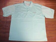 Columbia Pfg Performance Gear Omni-Shade Short Sleeve Polo Shirt Mens Large Teal