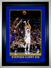 Stephen Curry Shot Golden State NBA Basketball A3 Framed Signed Photo Collage