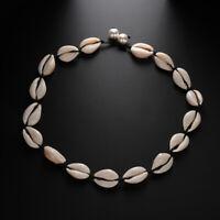 Natural Cowrie Sea Shell Puka Choker Necklace Boho Surfer Beach Tribal Jewelry