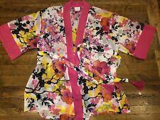 Women/'s Josie Natori x Target Gray Wrap Short Kimono Robe Size Small NWD