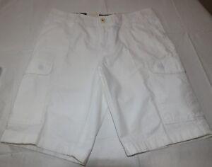 Hommes Tommy Hilfiger Cargo Court 30 Blanc 78A8480 100 Coton Marche Casual Short