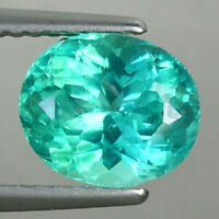 "2.10 ct  SHIMMERING BEST BLUE GREEN PARAIBA HUGE""  NATURAL APATITE - Oval Gems"