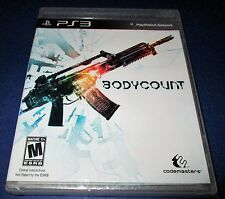 Bodycount Sony PlayStation 3 *Factory Sealed! *Free Shipping!