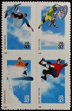 1999 33c Xtreme Sports, Block of 4 Scott 3321-24 Mint F/VF NH