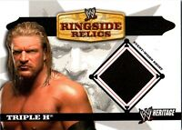 WWE Triple H 2006 Topps Heritage Event Worn T-Shirt Ringside Relic Card