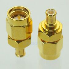 1pce Adapter SMA male to MCX male plug RF connector straight gold plating