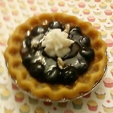 """5"""" Blueberry Pie Gel Scented Soy and Gel wax. Dessert Candles that looks YUMMY!"""