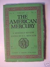 AMERICAN MERCURY February 1927 FRED KELLY HENRY PRINGLE