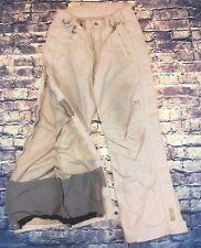 Helly Hansen Helly Tech Lined Full Leg Zip Weatherproof Khaki Snow Pants Medium