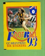 #TT. UNOPENED 1993 SELECT  AFL STICKER PACK -  HAWTHORN & GEELONG FRONT