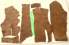 BROWN NUBUCK LEATHER REMNANTS  -- LARP, ELBOW PATCHES ETC  #3210