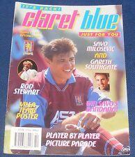 ASTON VILLA CLARET AND BLUE  MAGAZINE NUMBER FOURTEEN SEPTEMBER 1995