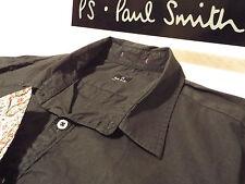 """PAUL SMITH Mens Shirt 🌍 Size L (CHEST 40"""") 🌎 RRP £95+ 🌏 PLAIN & FLORAL CUFFS"""