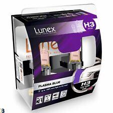 2 x H3 HALOGEN HEADLAMP BULB Premium (453) 12V 55W Lunex Plasma Blue 4200K