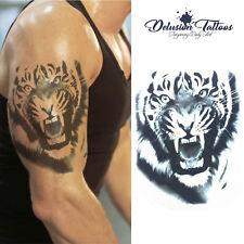 Tiger Temporary Tattoo - Realistic Transfer Waterproof Mens Womens Kids Fancy