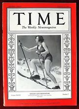 Time Magazine ~ Vol. XXVII, No 7, February 17, 1936 ~ Hitler's Leni Riefenstahl