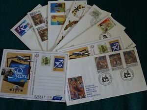 Cyprus 1997 Complete year set FDC's.