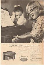 1962  Vintage ad for Aerosonic`the Baldwin Co. retro Fashion Piano  (051617)