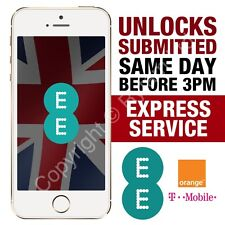Apple iPhone 6S 6 5S 5C 5 SE Factory Unlock CODE Service EE ORANGE T-MOBILE UK