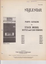 VINTAGE VENDO COCA COLA COKE PARTS CATALOG STYLESTAR SEE SCAN