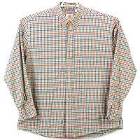 Viyella Bullock Jones Mens XL Multicolor Check Cotton Wool LS Button Front Shirt