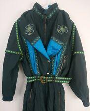 Vintage 80's HEAD Ski Wear Womens Zip Up Belted Ski Suit Snow One Piece Sz 10