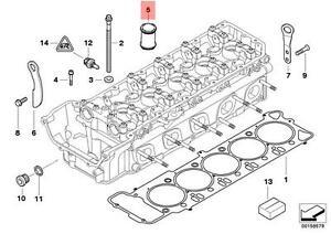 Genuine BMW E60 E61N E63 Ignition Spark Plug Pipe SET 10pcs OEM 11127835170