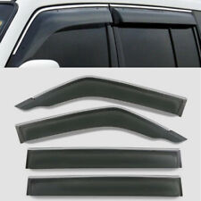 4X Car ABS Left Right Door Window Eyebrow Cover For Mitsubishi Pajero V31V32V33