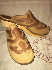 Penelope Chilvers Romero Brown Wooden Clogs
