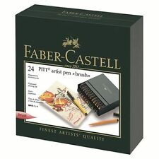 Faber-Castell PITT Artist Pen Brush Studio Box 24 Colours Professional 167147