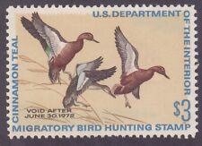 US RW38 MNH OG 1971 $3 Three Cinnamon Teal Duck Hunting Stamp