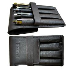 Genuine leather fountain Pen case pouch 4 individual pockets Mark II - Matte