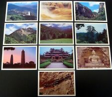CHINA SHAN XI SCENERY POST CARDS 10 PRE-STAMPED POST OFFICE FRESH CARDS SITES