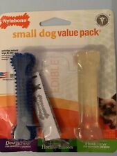 Nylabone Small Dog Value Pack 2 Bones Dentalchew Flexichew Up To 15lbs 7kg New