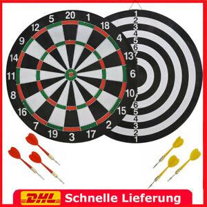 Profi Dartscheibe inkl. 6 Dartpfeile Steeldarts Dartboard Dart Wurfspiel Set Neu
