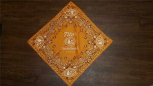 Tito's Handmade Vodka Bandanna (Orange) NEW!!!