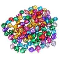 Christmas Ringing Jingle Bell Beads Xmas Craft Silver Gold Mixed Colour 14mm Lot