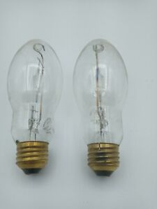 Philips 100 Watt Metal Halide ED17 Bulb, Medium Base, Clear Metal ... LOT OF 2