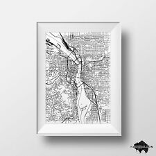 Custom Map Ink Drawing of Any City - Signed Framed Original Art - Illustration