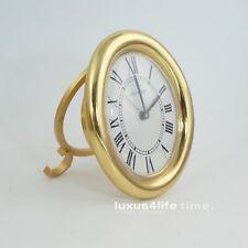 Cartier Baignoire Clock, oval Case, Quarz Werk, herrlicher Zustand