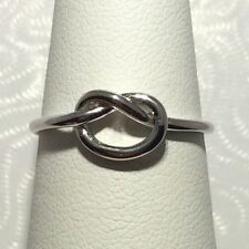 *SALE* Solid 925 Sterling Silver Knot Ring Sz 6