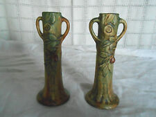Weller art pottery 1920's Apple tree candlestick? bud vases? Nice!