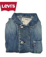 GIUBBOTTO GIACCA CAMICIA JEANS LEVIS STRAUSS DONNA TG. M BLU VINTAGE A+