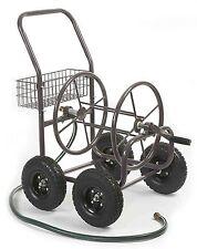 Water Hose Storage Reel Cart Garden Steel Heavy Duty Wheel Outdoor 250 FT  S